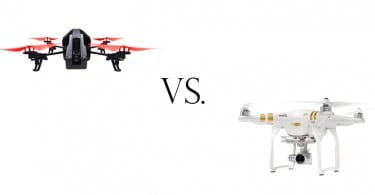 Parrot AR Drone vs DJI Phantom Comparison