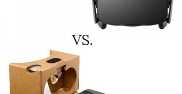 Oculus Rift vs. Google Cardboard