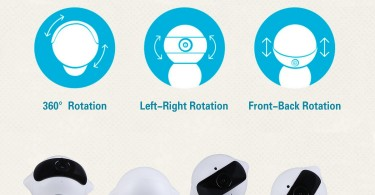 ThreeC Smart Home Security CCTV IP Camera Robot 960P Wireless