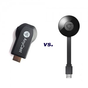 AnyCast Easy Sharing M2 Plus vs Google Chromecast
