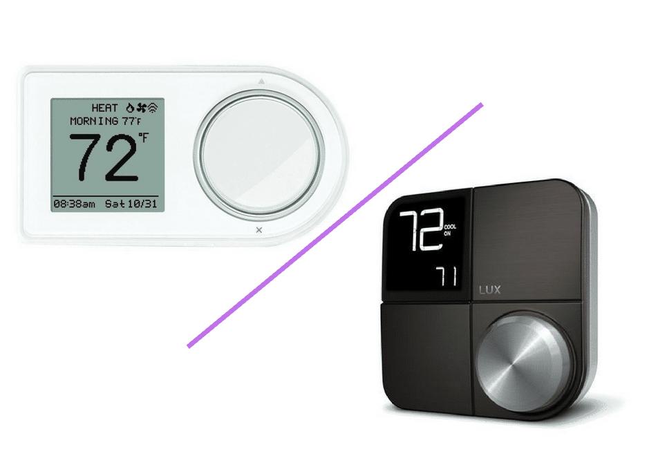Lux Kono Smart Thermostat vs  Lux Geo Wi-Fi Thermostat | All